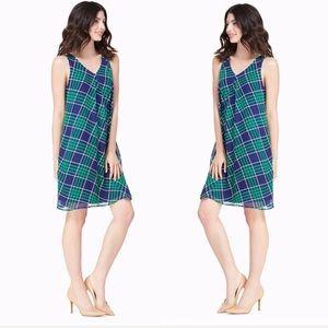 Sz Medium Navy/Grn Charming Charlie Plaid Dress